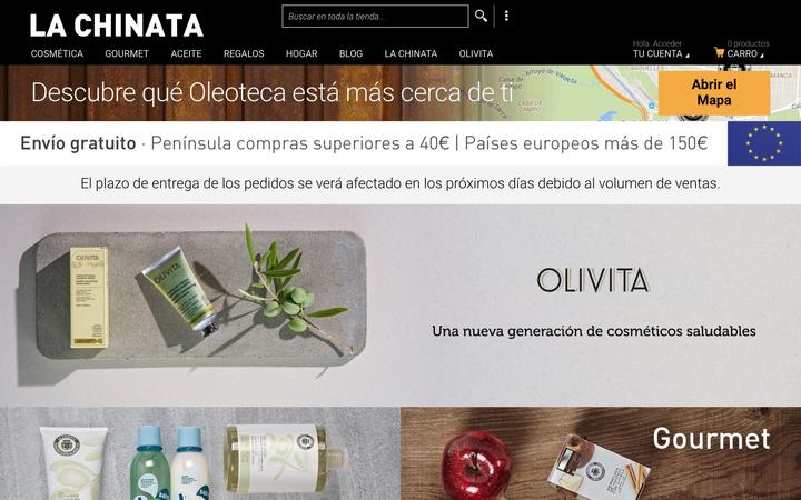 スペインのオリーブオイル製品サイト