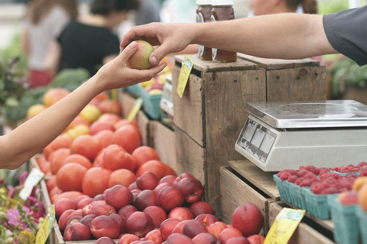 フルーツの買い物