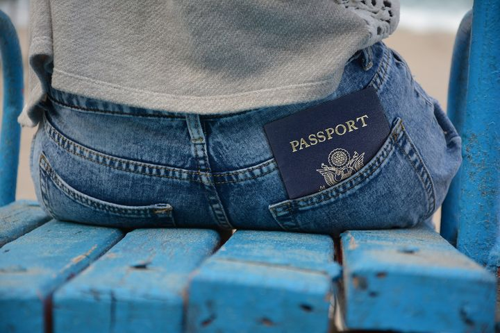 ポケットに入ったパスポート