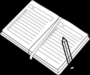 紙とペンのイラスト