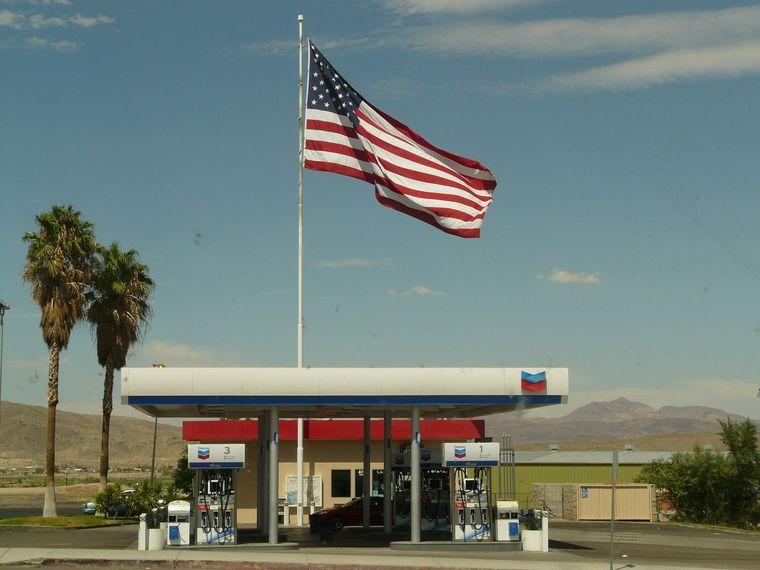 アメリカのガソリンスタンド