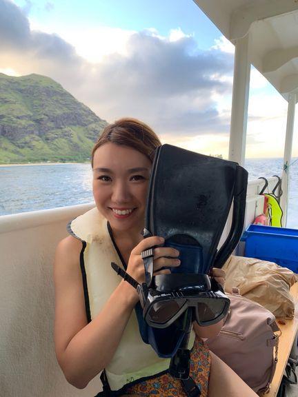 船の上の女性