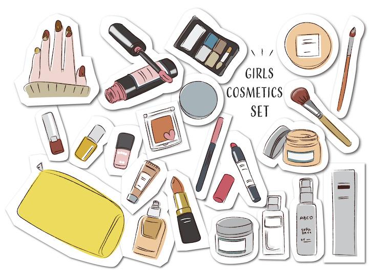 化粧品やメイク道具を工夫する